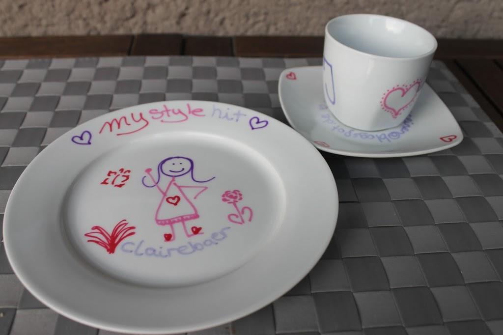 Porzellan und Geschirr bemalen  DIY ~ Geschirr Bemalen