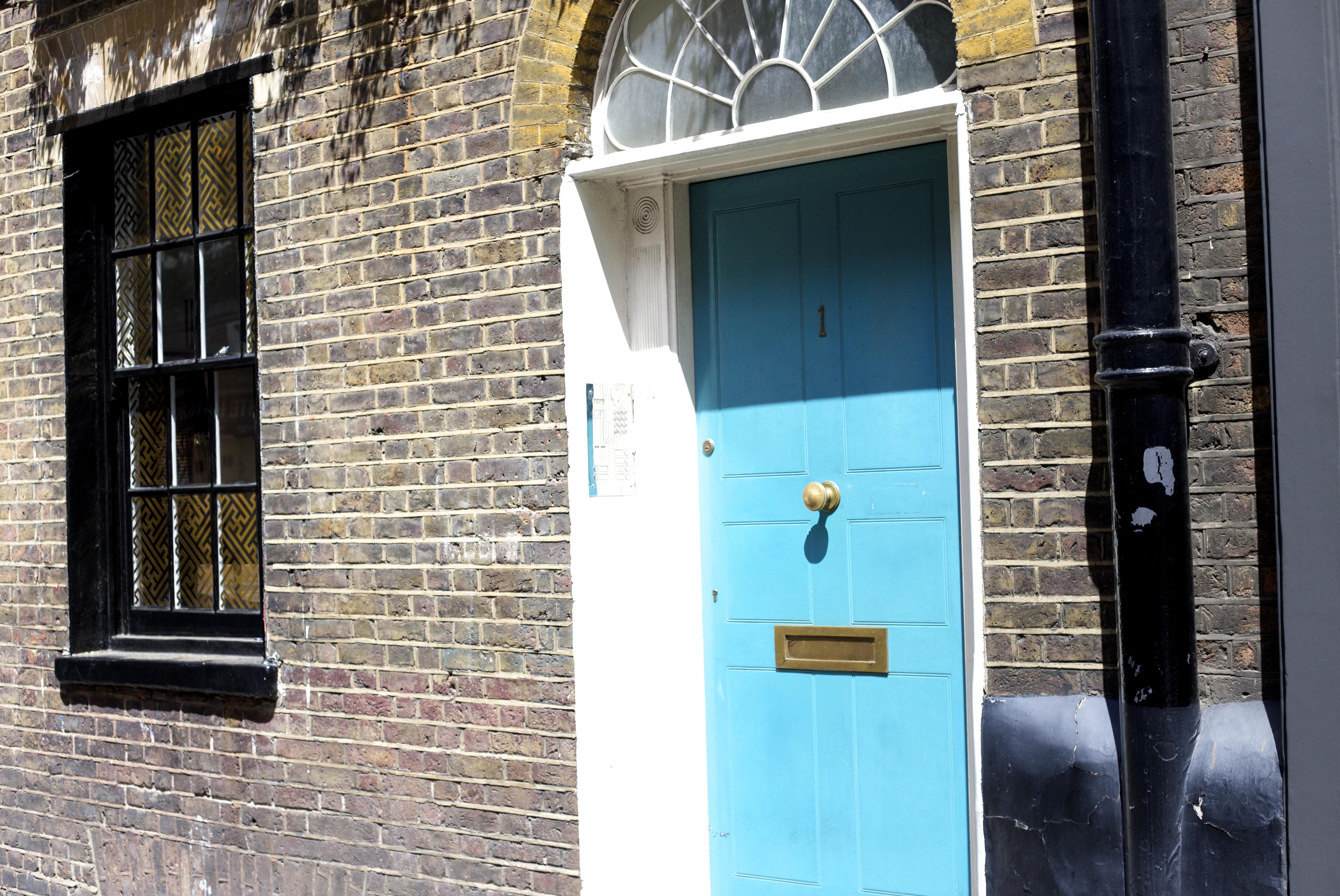 London Soho alte Tür