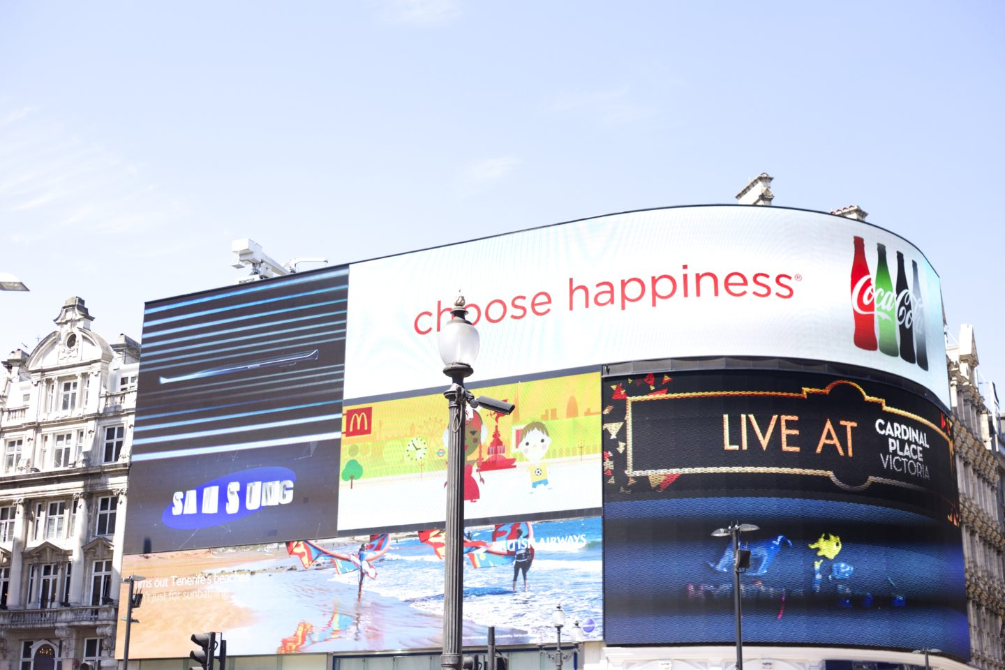 Piccadilly Circus Werbung