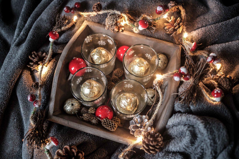 Adventskran aus Teelichtern