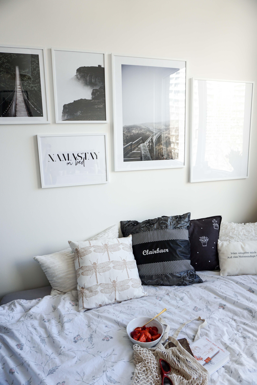 Bilderwand Gestalten Fotowand Ideen Inspiration Diy Schlafzimmer  Interior Wohnen Blog Wohnung