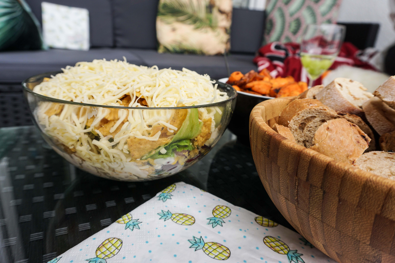 Grill Reihe 5 Schichtsalat Leckerer Und Einfacher Nacho Salat