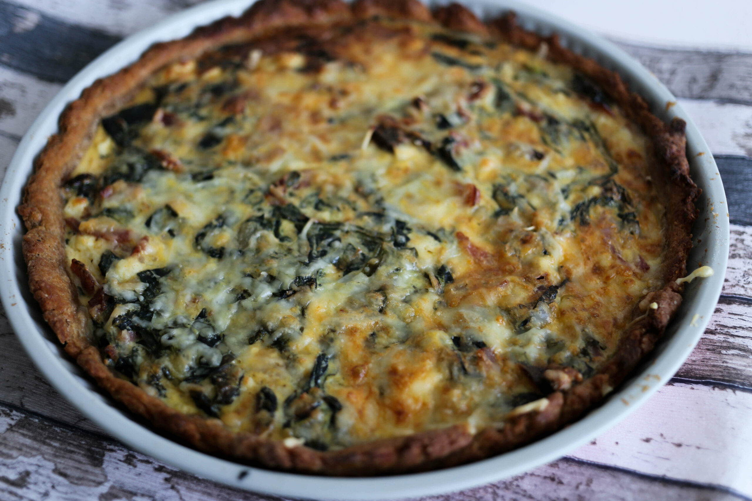 feta spinat quiche