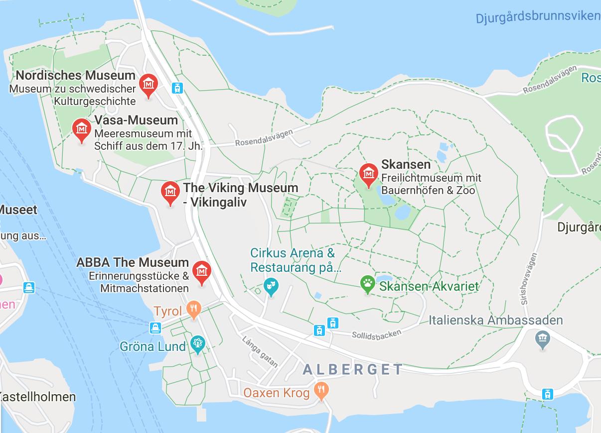 museen stockholm karte