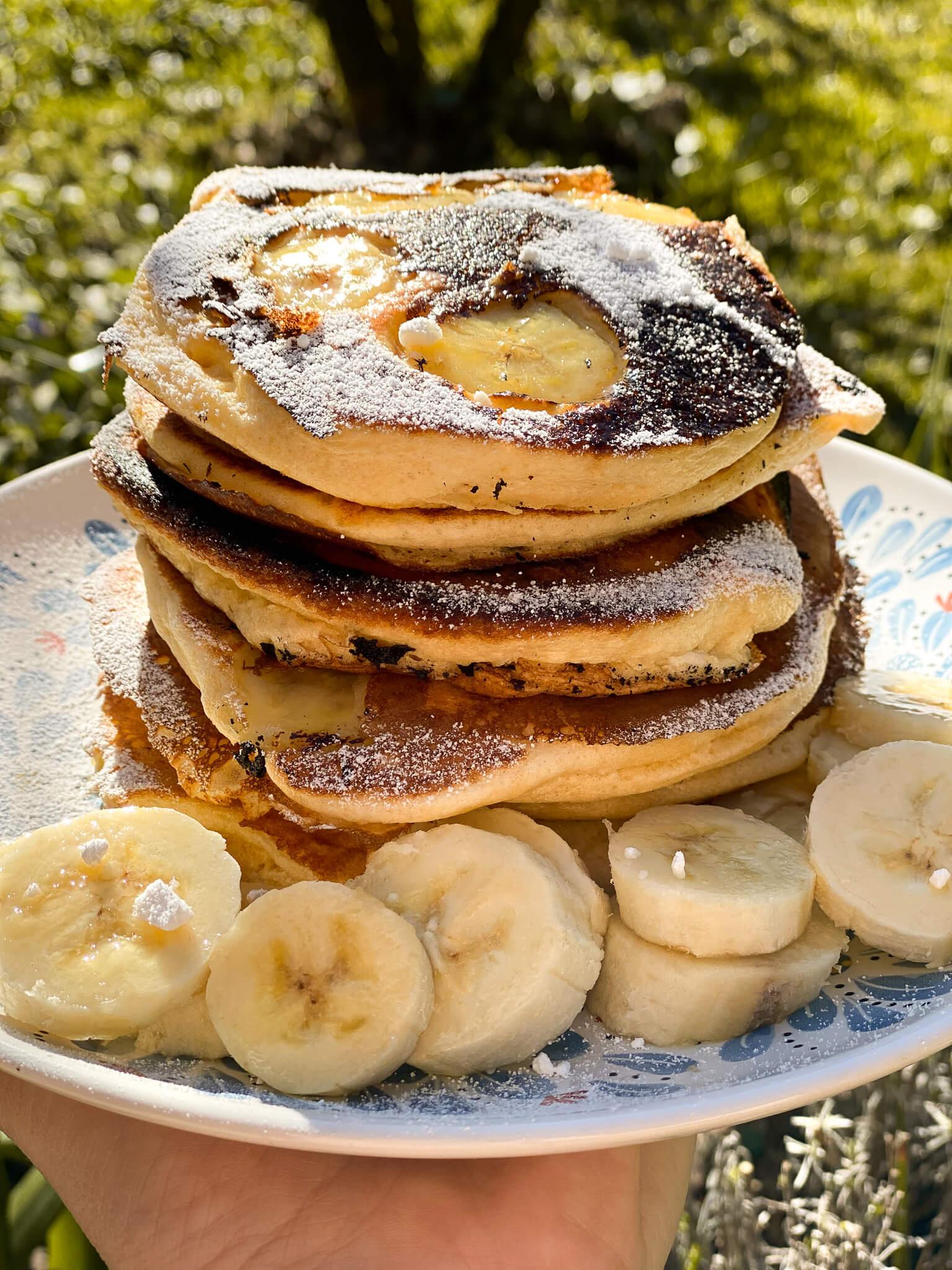 bananen pancakes einfach lecker fluffig frühstück