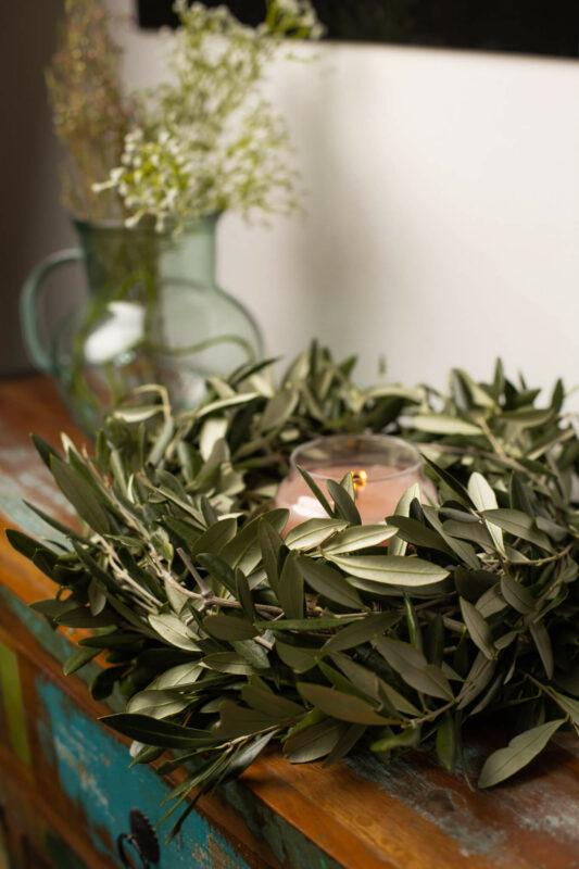 Olivenkranz binden DIY