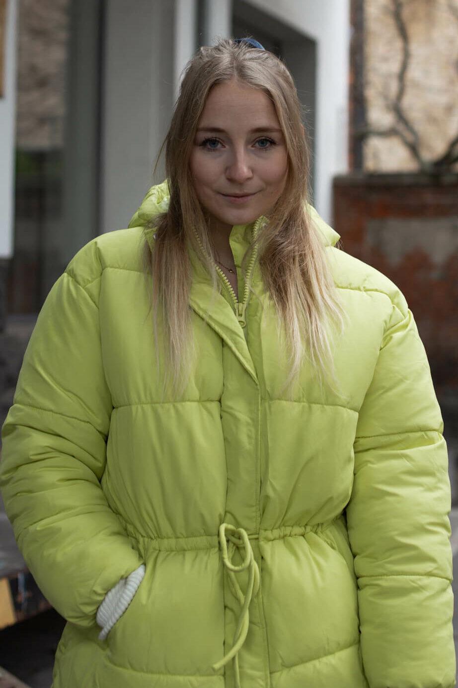 Neon grüne Jacke Neonfarben