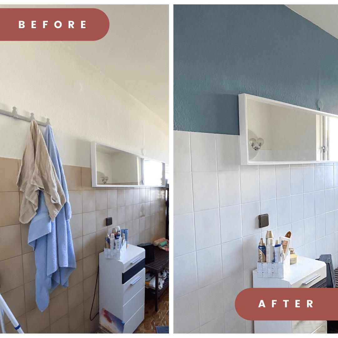 Badfliesen streichen   kostengünstig Badezimmer renovieren